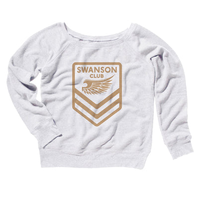 Swanson Club Women's Off The Shoulder Sweatshirt-White - Famous IRL