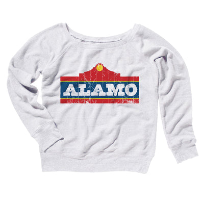 Alamo Beer Women's Off The Shoulder Sweatshirt - Famous IRL Funny and Ironic T-Shirts and Apparel