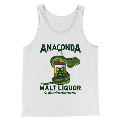 Anaconda Malt Liquor Men/Unisex Tank Top-White - Famous IRL