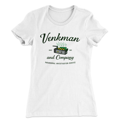 Venkman and Company Women's T-Shirt-Solid White - Famous IRL
