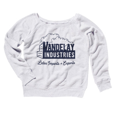 Vandelay Industries Women's Off The Shoulder Sweatshirt-White - Famous IRL