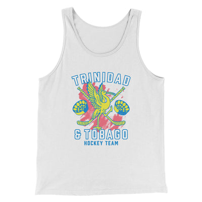 Trinidad & Tobago Hockey Men/Unisex Tank-Men/Unisex Tank Top-White Label DTG-White-S-Famous IRL