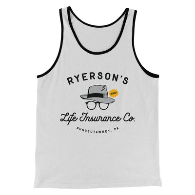 Ryerson's Life Insurance Men/Unisex Tank-White/Black - Famous IRL