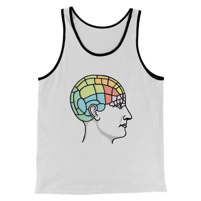 Phrenology Chart Men/Unisex Tank-White/Black - Famous IRL