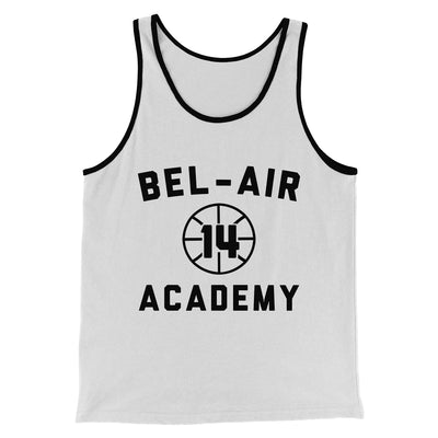 Bel-Air Academy Basketball Men/Unisex Tank-White/Black - Famous IRL