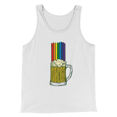 Beer Rainbow Men/Unisex Tank-White - Famous IRL