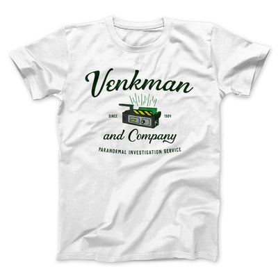 Venkman and Company Men/Unisex T-Shirt-White - Famous IRL