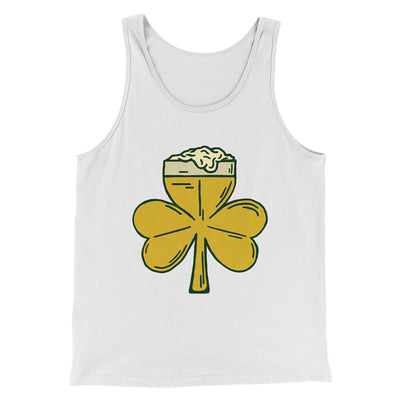 Beer Shamrock Men/Unisex Tank-White - Famous IRL