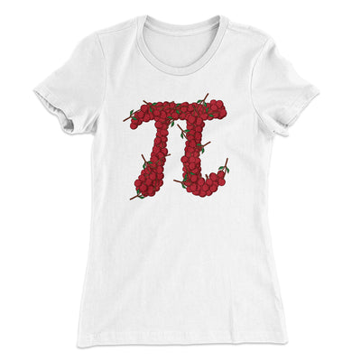 Cherry Pi Women's T-Shirt-Solid White - Famous IRL