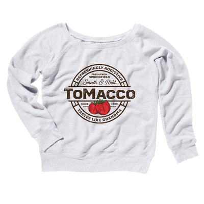 Tomacco Women's Scoopneck Sweatshirt-Women's Off The Shoulder Sweatshirt-White Label DTG-White-2XL-Famous IRL