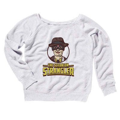 The Scranton Strangler Women's Off The Shoulder Sweatshirt-White - Famous IRL