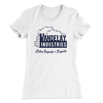 Vandelay Industries Women's T-Shirt-Solid White - Famous IRL