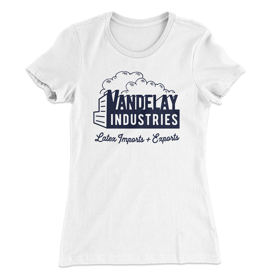f11733b4bc67 Vandelay Industries Women s T-Shirt-Solid White - Famous IRL