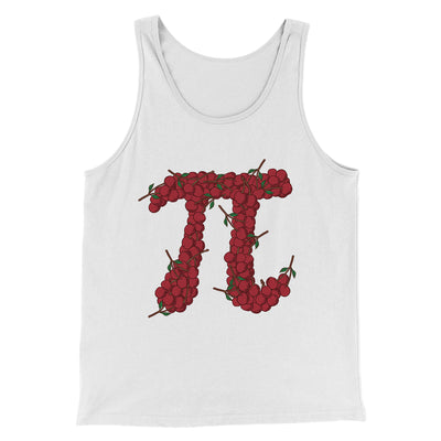 Cherry Pi Men/Unisex Tank-White - Famous IRL