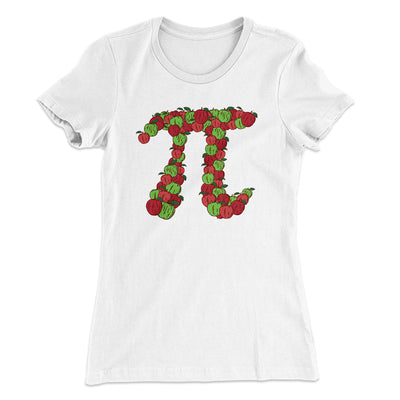 Apple Pi Women's T-Shirt-Solid White - Famous IRL