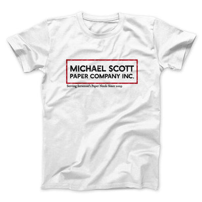 Michael Scott Paper Company Men/Unisex T-Shirt-White - Famous IRL
