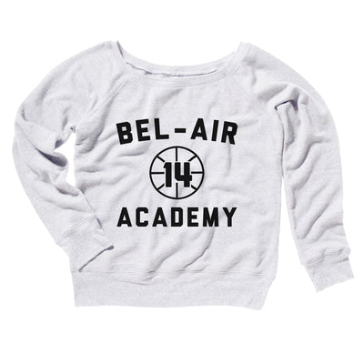 Bel-Air Academy Basketball Women's Off The Shoulder Sweatshirt-White - Famous IRL