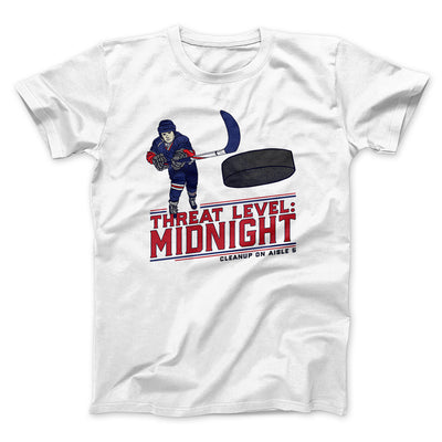 Threat Level: Midnight Men/Unisex T-Shirt-White - Famous IRL