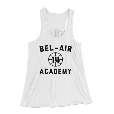 Bel-Air Academy Basketball Women's Flowey Racerback Tank Top-White - Famous IRL