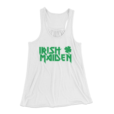 Irish Maiden Women's Flowey Racerback Tank Top-White - Famous IRL