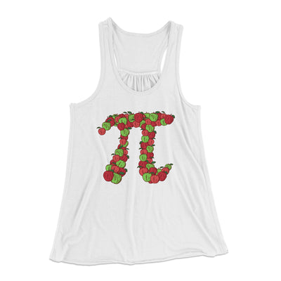 Apple Pi Women's Flowey Racerback Tank Top-White - Famous IRL