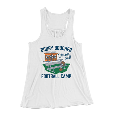 Bobby Boucher Football Camp Women's Flowey Racerback Tank - Famous IRL Funny and Ironic T-Shirts and Apparel