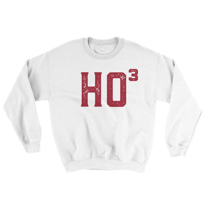 Ho Cubed Men/Unisex Ugly Sweater-White - Famous IRL