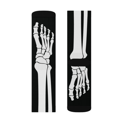Skeleton Adult Crew Socks-All Over Prints-Printify-M-Famous IRL