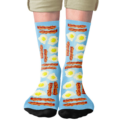 Bacon & Eggs Adult Crew Socks