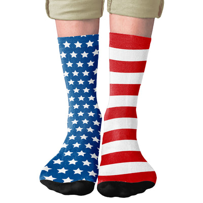American Flag Adult Crew Socks-All Over Prints-Printify-Famous IRL