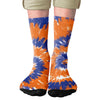 Blue & Orange Tie Dye Adult Crew Socks- - Famous IRL