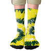 Green & Yellow Tie Dye Adult Crew Socks- - Famous IRL