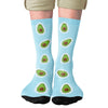 8 Bit Avocado Adult Crew Socks- - Famous IRL