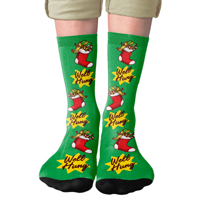 Well Hung Adult Crew Socks- - Famous IRL
