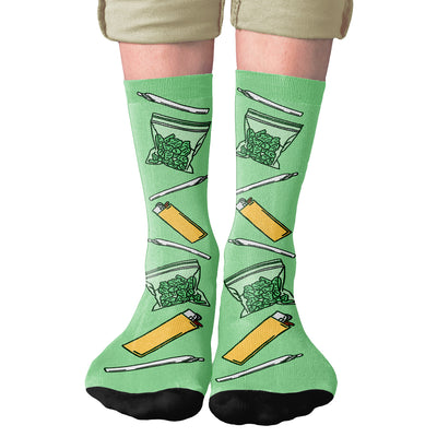 Sticky Icky Adult Crew Socks- - Famous IRL