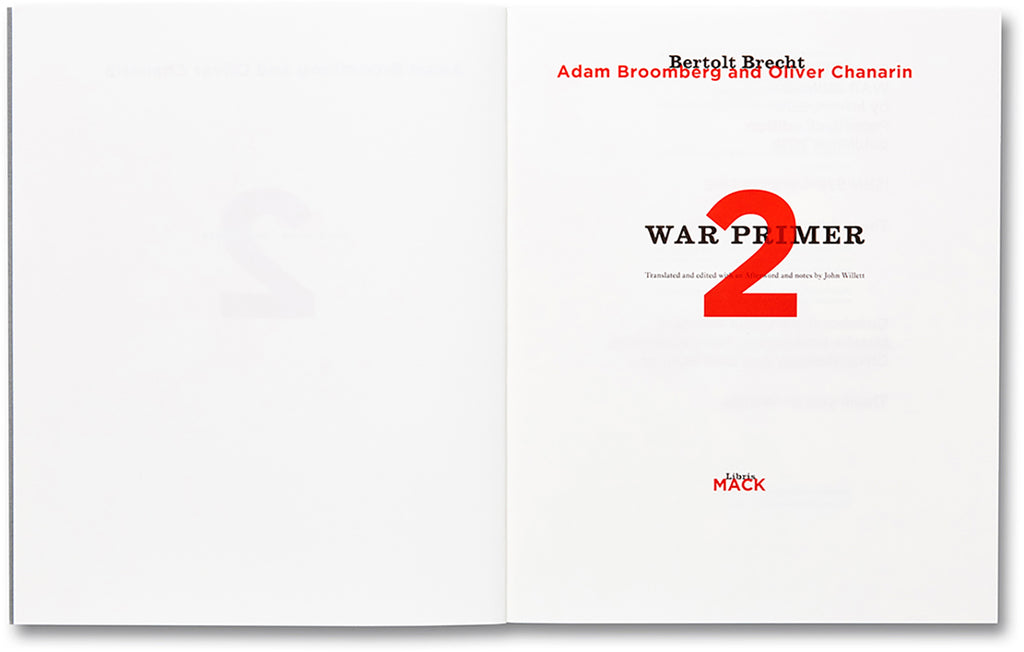 War Primer 2 - Adam Broomberg & Oliver Chanarin - Dalpine