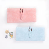 Leather Leaf Long Wallet Coin Purse - 6 Colors - Handbags Wallets Galore