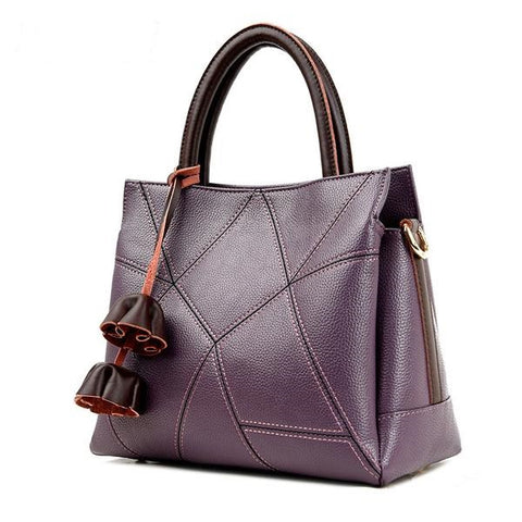 Genuine Leather Top- Handle Tote Bag- 5 Colors - Handbags Wallets Galore