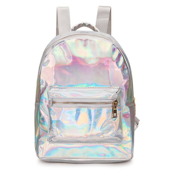 Mini Travel Holographic Backpack - Handbags Wallets Galore