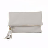 Flap Clutch Mini Bag with Tassel - 5 Colors - Handbags Wallets Galore
