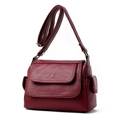 Leather Messenger Shoulder Bag - 5 Colors - Handbags Wallets Galore
