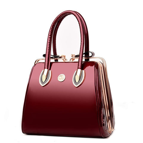 Patent Leather Shoulder Bag - Handbags Wallets Galore