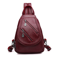 Fashion Double Zipper Leisure Backpack - 3 Colors - Handbags Wallets Galore