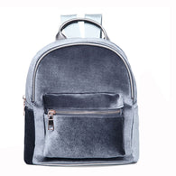 Designer Soft Velvet Mini Backpack - Handbags Wallets Galore