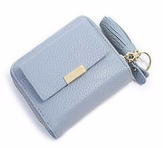Mini Wallet Fold Front Clasp with Chain Tassel - 4 Colors - Handbags Wallets Galore
