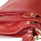 Small Genuine Leather Crossbody Bag - Handbags Wallets Galore