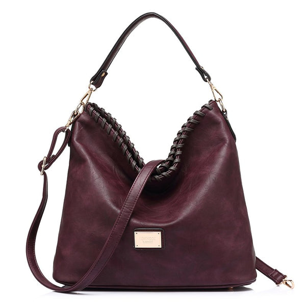 Soft Leather Shoulder Crossbody Handbag - Handbags Wallets Galore