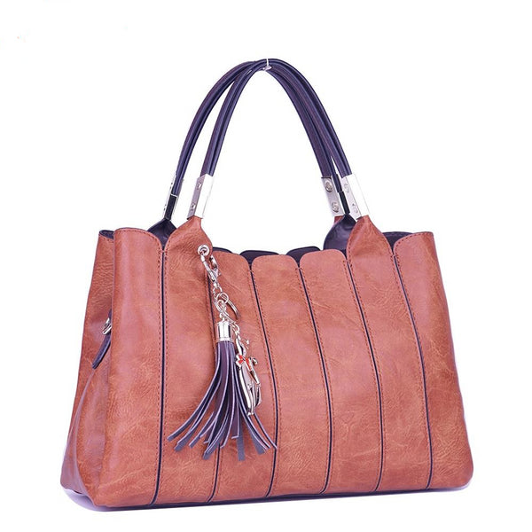 Vintage Luxury Shoulder Messenger Handbag with Tassel - Handbags Wallets Galore