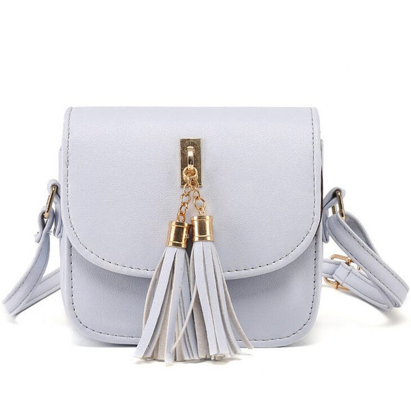 Mini Tassel Messenger Flap Bag - 4 Colors - Handbags Wallets Galore