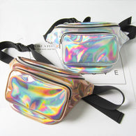 Fashion Hologram Laser Waist Fanny Pack - Handbags Wallets Galore